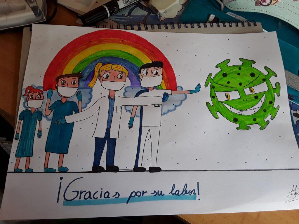 Dibujo regalo 3º Maria galaz ANGELINAS